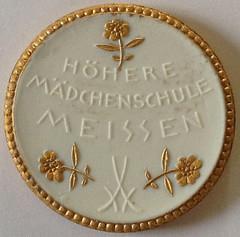 1921 German White Porcelain Notgeld reverse