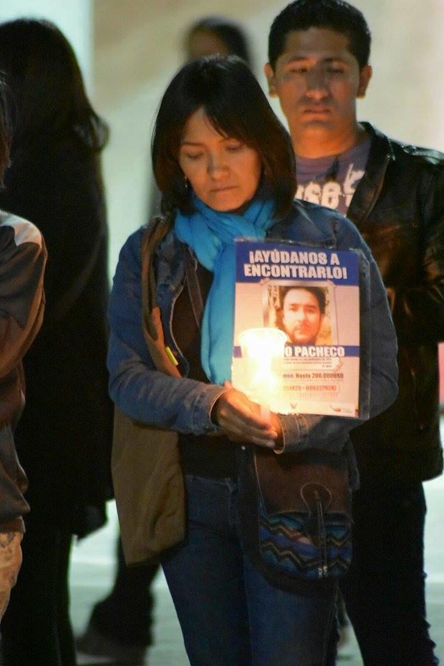 Vigilia latinoamericana por los desaparecidos en Ecuador