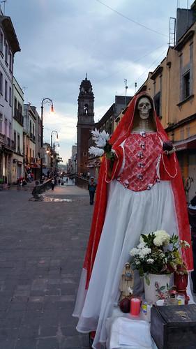 La santa muerte en el centro histórico del DF