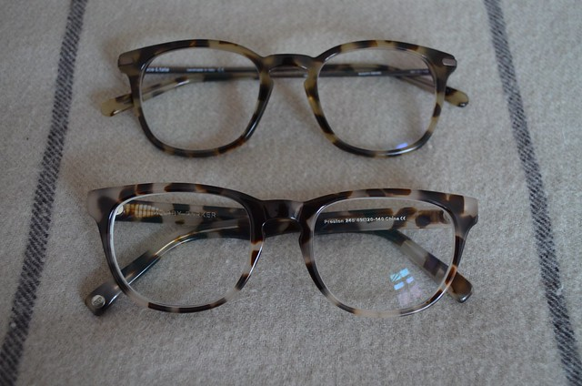 Ace & Tate Dylan in autumn leaves versus Warby Parker in pearl tortoise