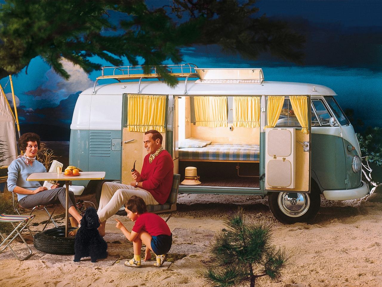 Туристический фургон Volkswagen T1 Camper. 1958 - 1962 годы