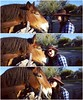 Getting fresh and flirty with Tiny. :heart_eyes::kissing_heart::horse:  #tanqueverderanch #duderanch #arizona #horse #kiss #cowgirl #animals #tw
