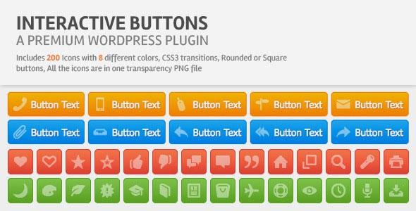 Codecanyon Interactive Buttons Wordpress Plugin v1.2