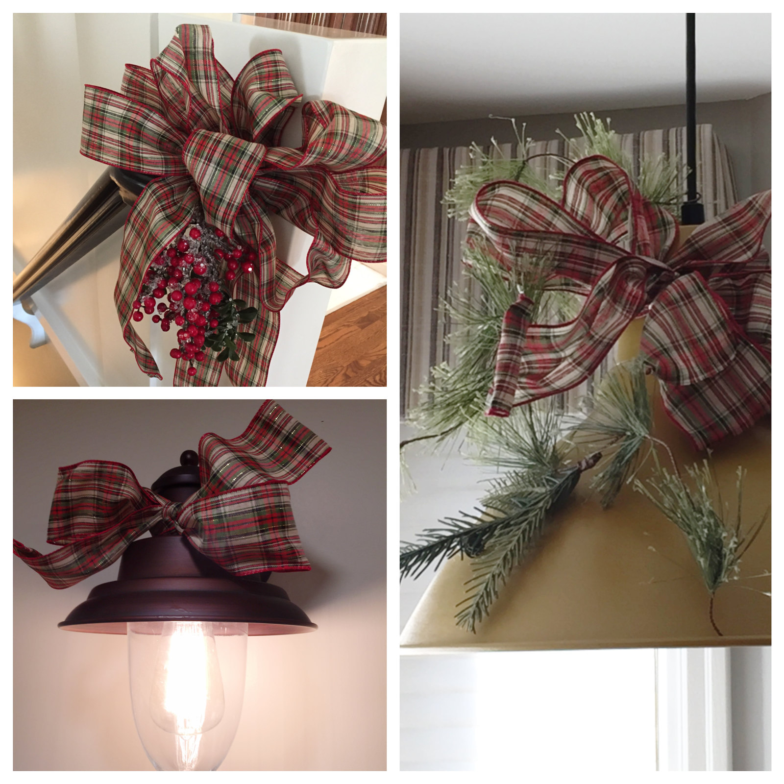 simple ways to decorate with ribbon at Christmas
