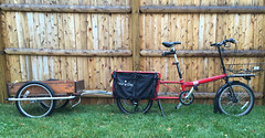 Bike Friday Haul-a-Day with converted Burley trailer