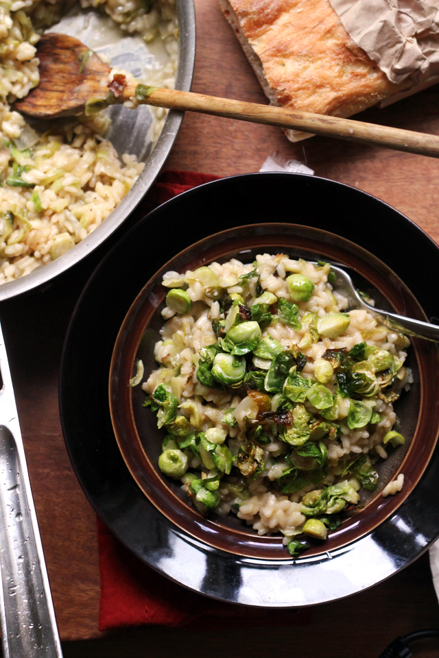 Brussels Sprouts Risotto