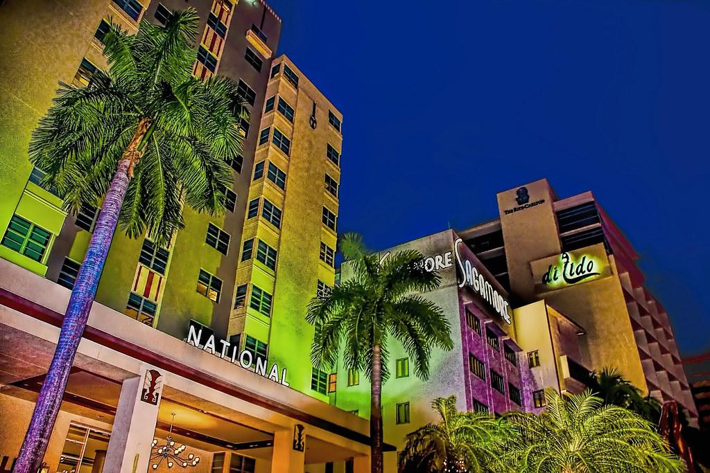 The skyline of Miami Beach @ South Beach, U.S.A.