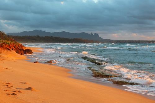 nukolii beach sunrise kauai september 2016 hi hawaii pacific ocean ハワイ 風景