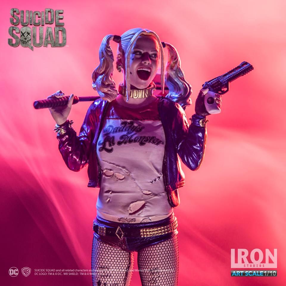 Iron Studios 自殺突擊隊【小丑女哈莉.奎茵】Suicide Squad Harley Quinn 1/10 比例全身雕像作品