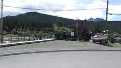 A White Pass & Yukon Route train arriving in Carcross, Yukon (video)