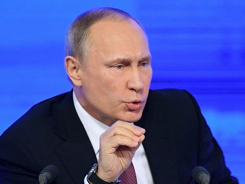Vladimir Putin calls creators of 'fake' Donald Trump dossier 'worse than prostitutes': Russian President claims international conspiracy working to 'delegitimise' the President-elect