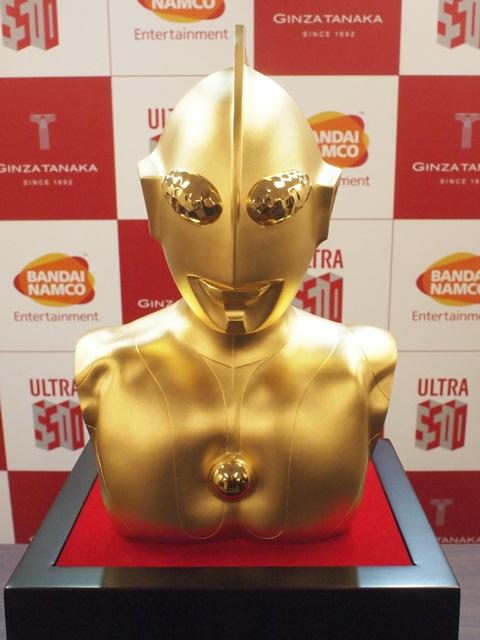 超超限定商品! BNEI x 田中貴金屬 《超人力霸王》放送開始50週年 純金ウルトラマン 純金胸像、金幣套組、紀念金屬板
