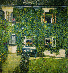 Gustav Klimt - Forester House in Weissenbach am Altersee, 1914 at Neue Gallerie New York City NY