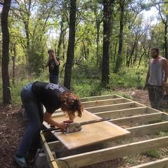 Building an a frame guest house!  #habitablespaces #artistresidency #sustainability #wwoofusa