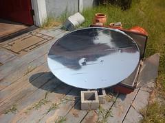Satellite dish solar reflector (front)