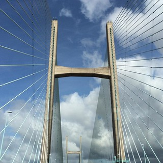 Well hello, Wales! #bridge #severn #secondseverncrossing #wales #visitwales #visituk #holiday #zomer2015