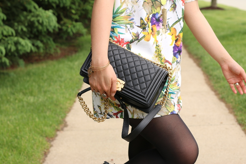 Botanical-print-dress-chanel-bag-7