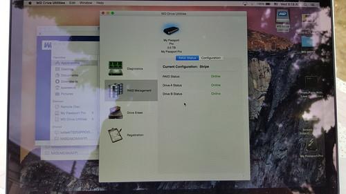 ซอฟต์แวร์ Utilities ของ WD My Passport Pro ใช้ดูสถานะของฮาร์ดดิสก์ได้