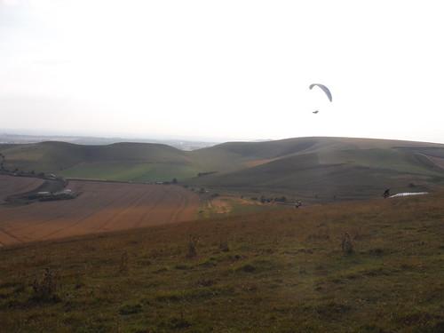 Glider above Milk Hill