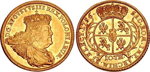 Lot 706 GERMANY Friedrich August II 10 Thalers