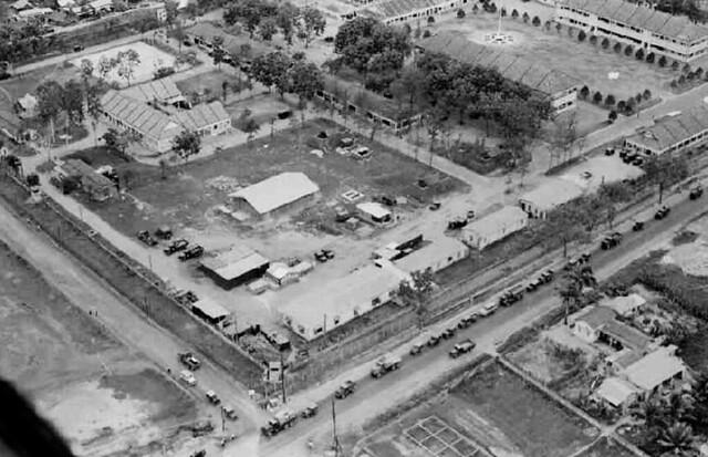 Aerial View of I Corps Compound - Không ảnh Trại Nguyễn Tri Phương, Bộ Tư lệnh Quân Đoàn 1 và  Quân Khu I tại Đà Nẵng