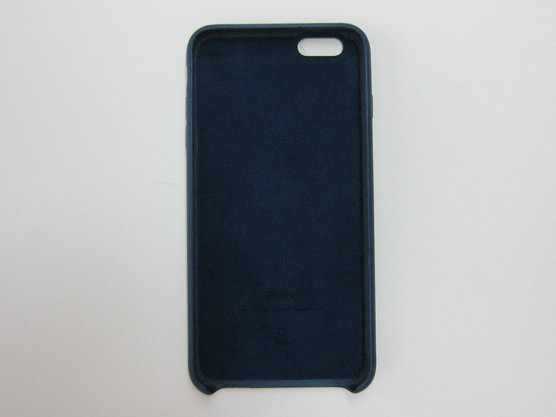 Apple iPhone 6s Plus Leather Case (Midnight Blue) - Front