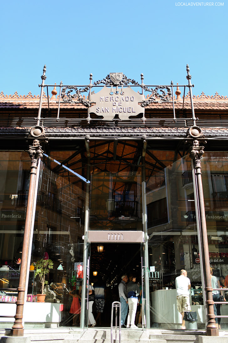 In Foodie Heaven at Mercado de San Miguel Madrid.