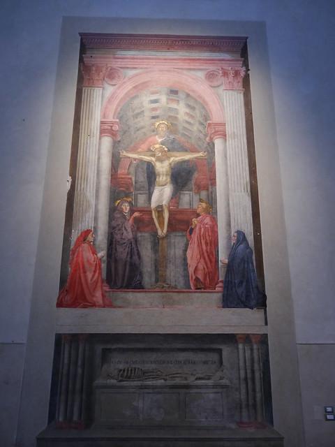Holy Trinity, Massaccio, S Maria Novella