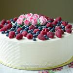 Торт покрытый кремом с текстурой