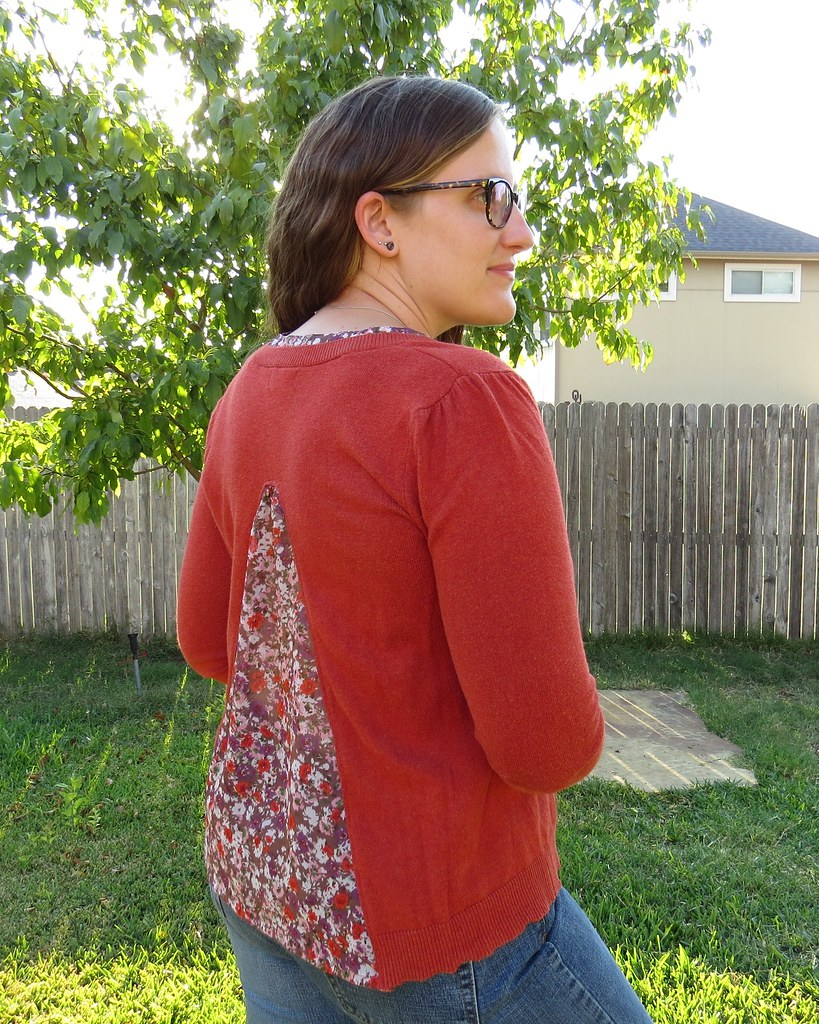 Flowy Fall Flowers Sweater - After