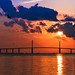 Sunrise over the Sunshine Skyway Bridge by Don Sullivan