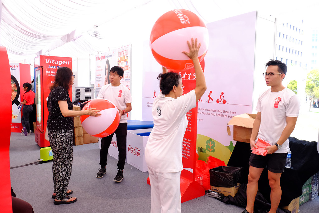 mass exercise sessions @ the Healthy Lifestyle Festival SG