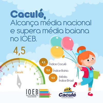 Educação de Caculé supera média da Bahia e é destaque no IOEB