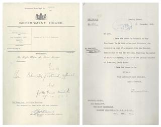 Correspondence regarding death of Reginald Clapcott (1923)