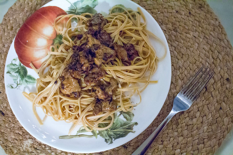 11.22. Pasta with chanterelles