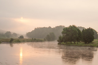 Foggy morning over Oskol river