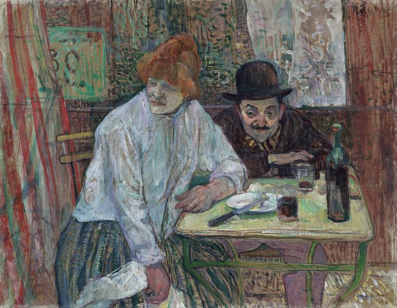 Henri de Toulouse-Lautrec - At the Café La Mie (c.1891)