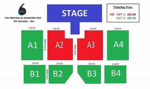 Day6 Fanmeet in SG Seating Plan
