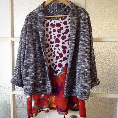 A new snugly cardigan #seamworkmag #oslocardigan #roomforstuffing