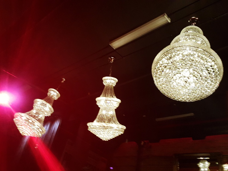 CC Lounge chandeliers