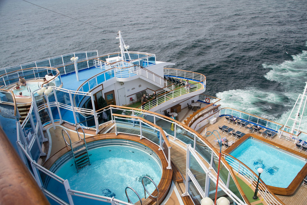 Pools and Hot Tubs on Ruby Princess (aft)