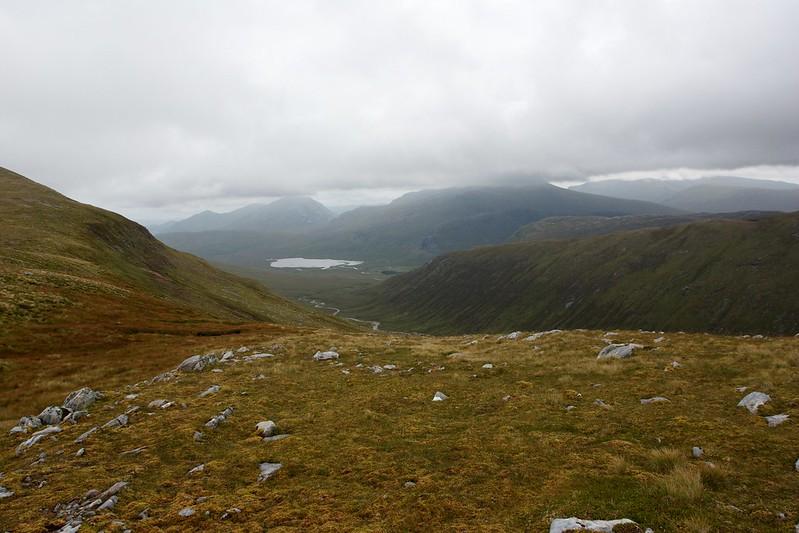 Loch Ghuilbinn and the Ben Alder hills