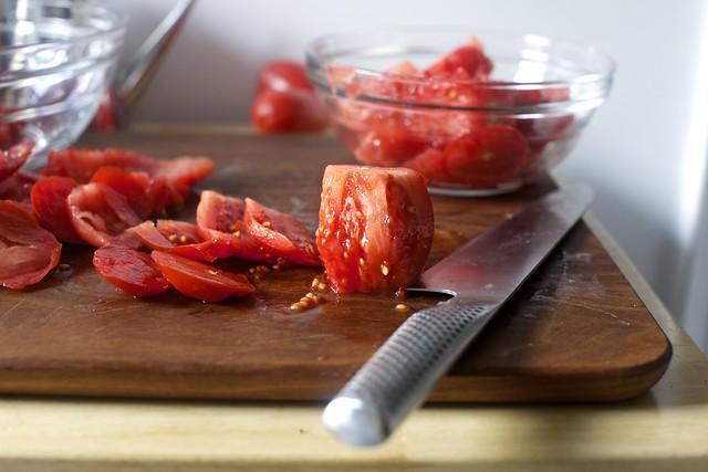 coring tomatoes, if you wish