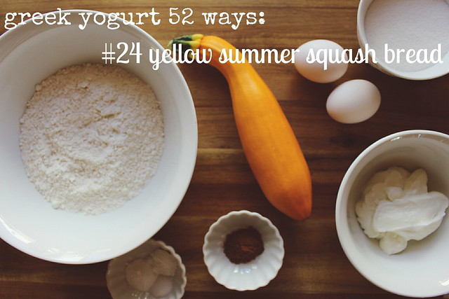 greek yogurt 52 ways: # 24 yellow summer squash
