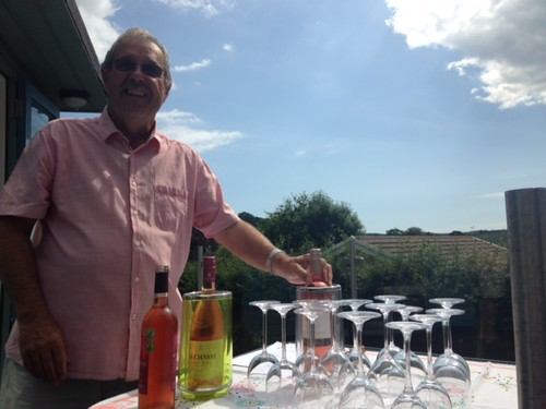Summer wine tasting in Lostwithiel