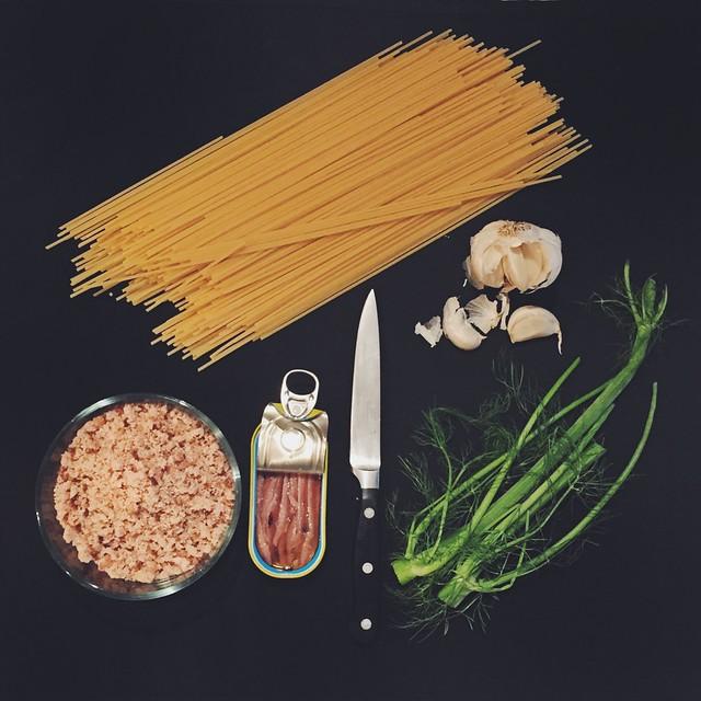 Spaghetti con pangrattato - spaghetti with breadcrumbs