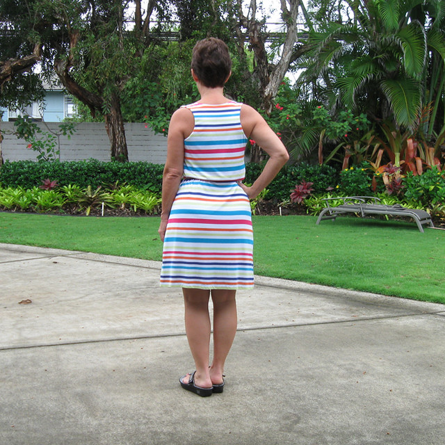 Lekala stripe back view on me