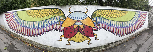 Scarab beetle wall art