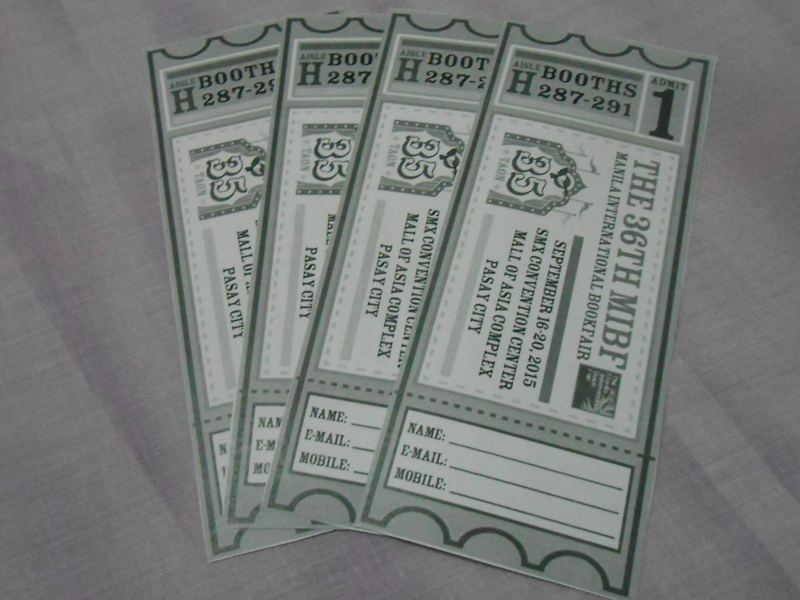 MIBF tickets from Adarna House