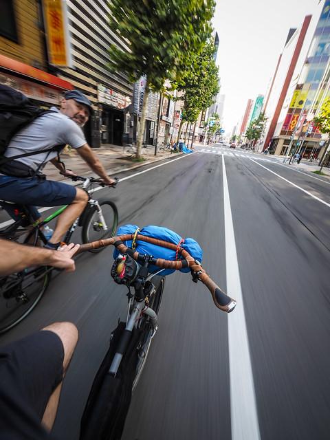 Cycling from Sapporo City to Sapporo Kokusai Ski Area in summer (Hokkaido, Japan)